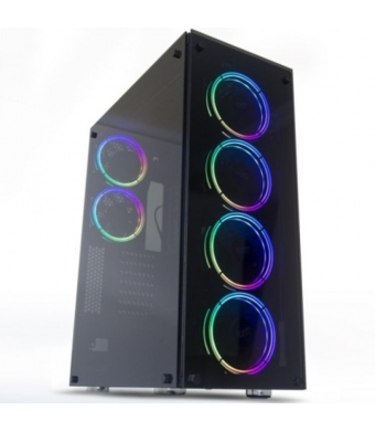 DarkFlash Phantom 650W 80+Br RGB Mid Tower Kasa